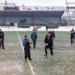 Huntly public try to get pitch playable