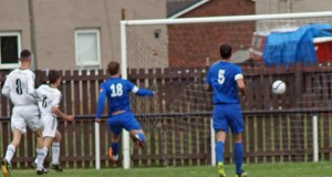Pete Bell opens the scoring v Selkirk