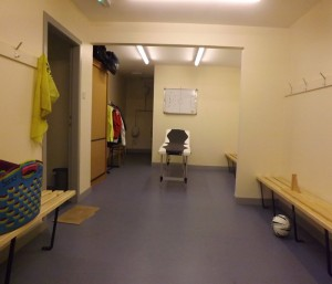 New home dressing room at Recreation Park