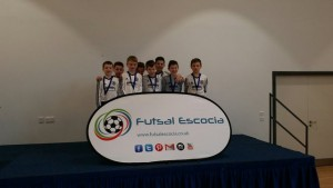 Winning squad with their medals