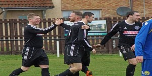 Kev Masson celebrates his third goal