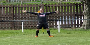 Kevin Masson celebrates another goal for the Shippy.